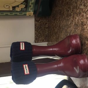 DarK Blue Knit Hunter Boot Socks